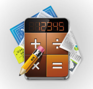 Vector calculator XXL detailed icon
